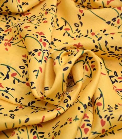 Tissu viscose Lianes - Yellow