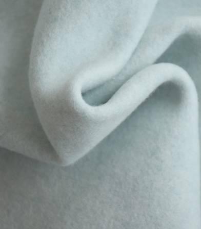 Tissu polaire coton bio -  vert mint