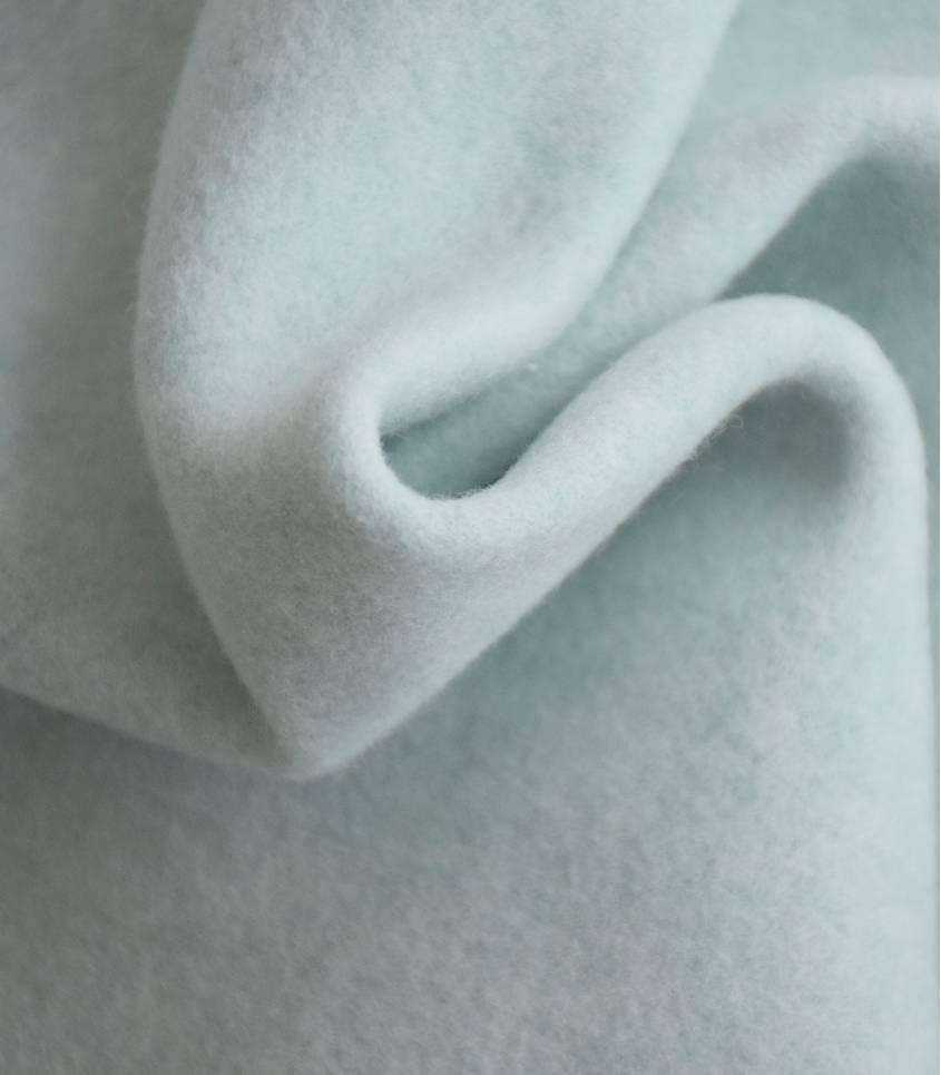 Tissu polaire coton bio - mint