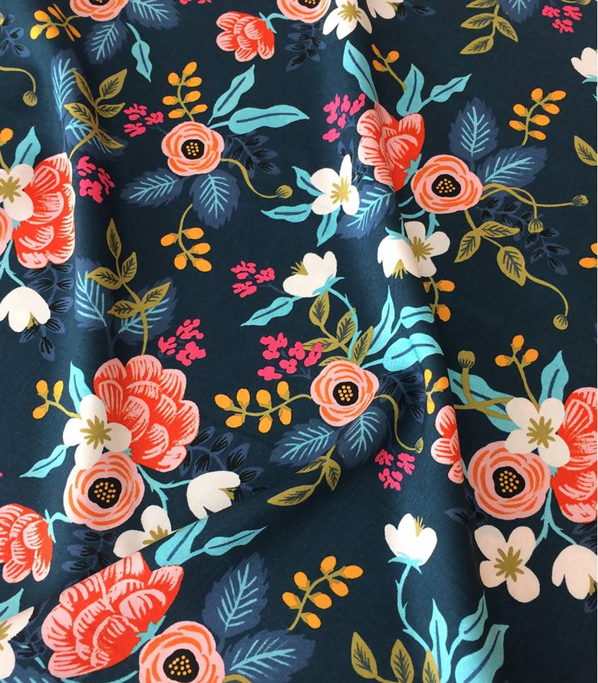 Tissu viscose Birch Floral - Navy