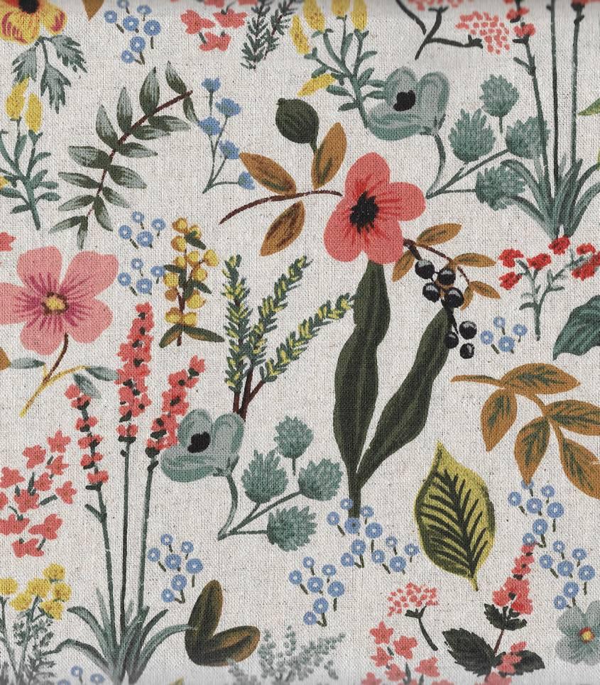 Tissu Canvas Herb garden- natural