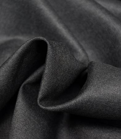 Tissu twill Bamboo et polyester recyclé - Anthracite