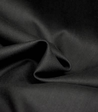 Tissu twill Bamboo et polyester recyclé - Noir