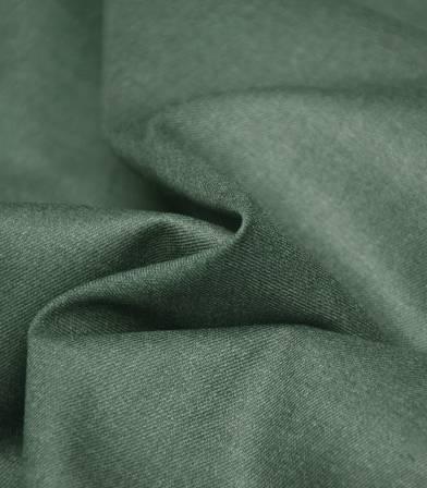 Tissu twill Bamboo et polyester recyclé - Vert
