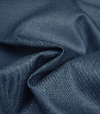 Tissu twill Bamboo et polyester recyclé - Denim