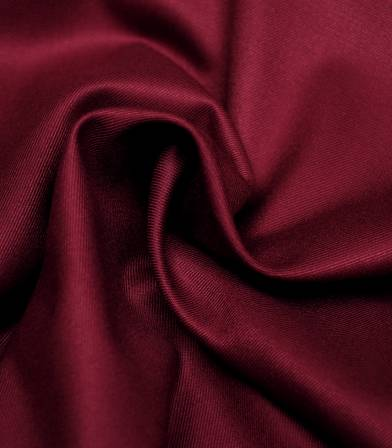 Tissu twill Bamboo et polyester recyclé - Bordeaux