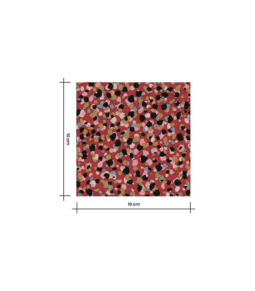 Tissu viscose Crysaline - Terracotta