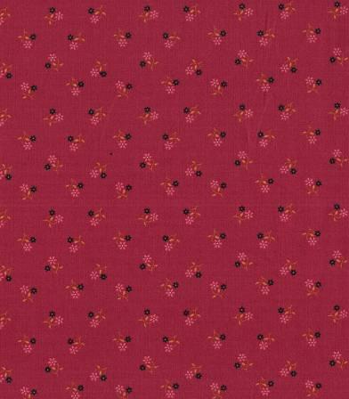 Popeline petites fleurs - Rouge