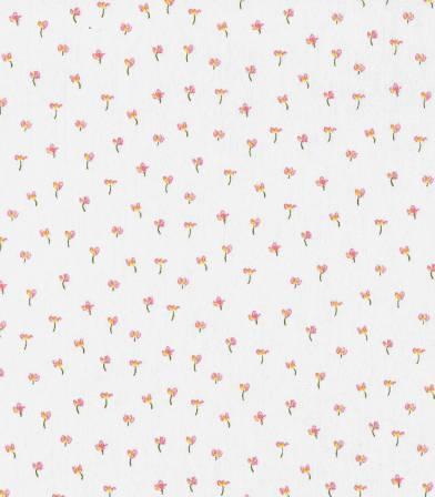 Popeline de coton Bio Little tulip - Blanc