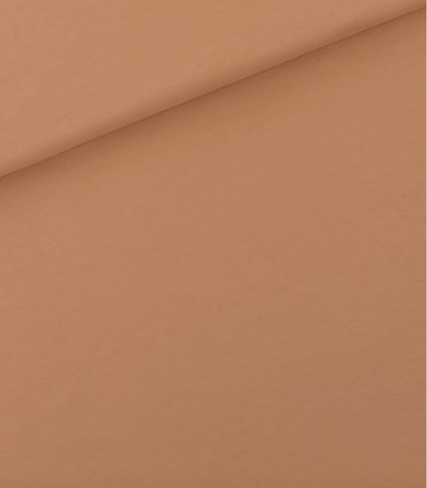 Tissu French terry - Camel Brown