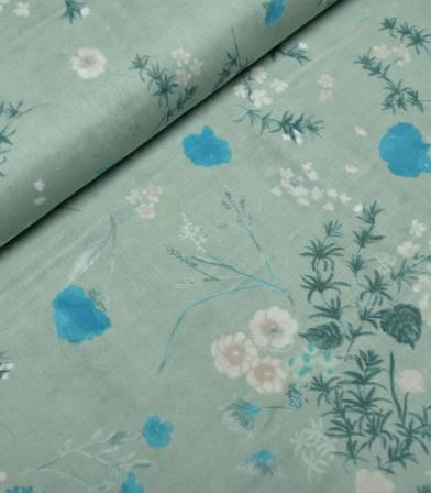 Tissu japonais Nani Iro - Jardin light grey