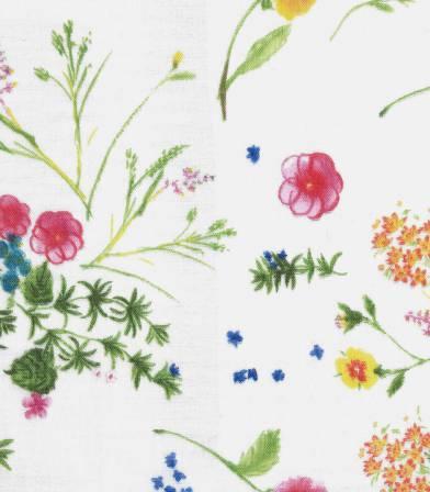 Tissu japonais Nani Iro - Jardin white