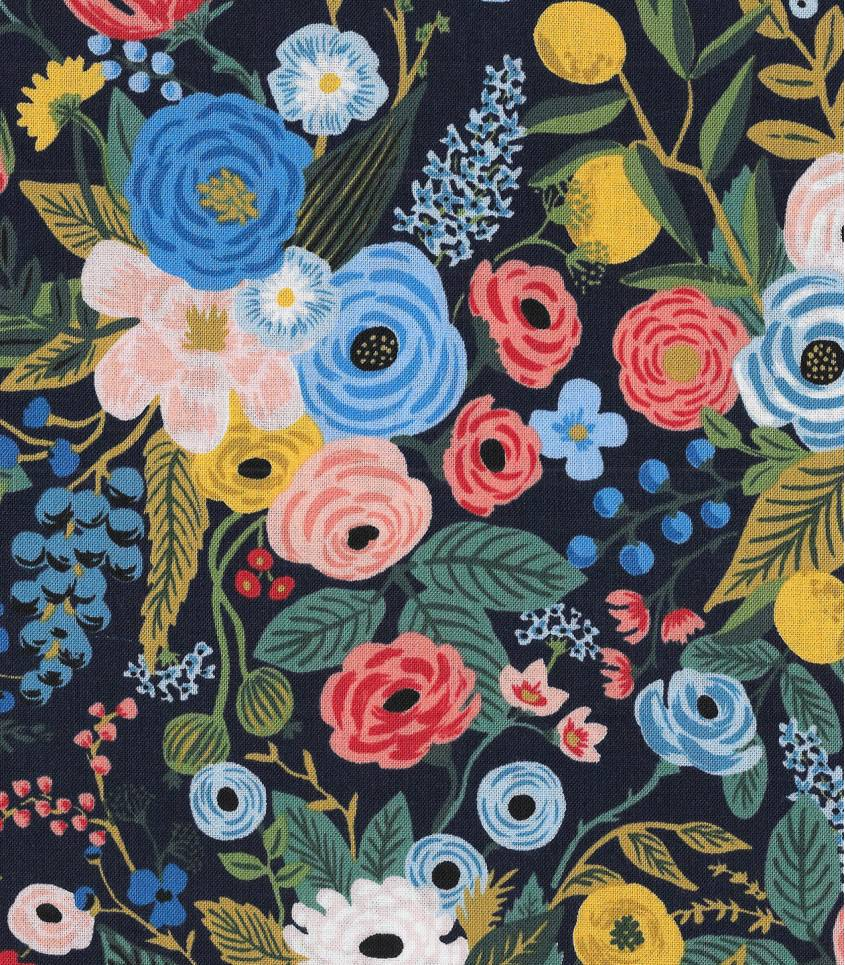 Tissu Garden Party - navy