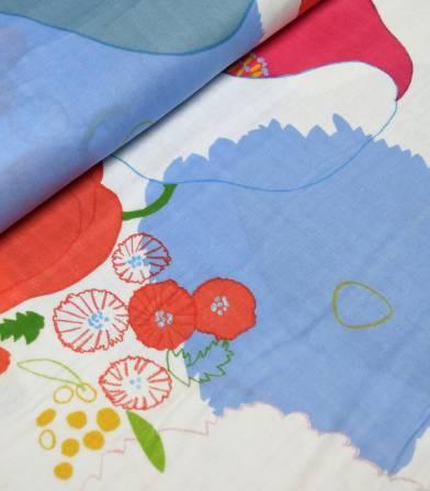 Tissu japonais Nani Iro - Waltz on white