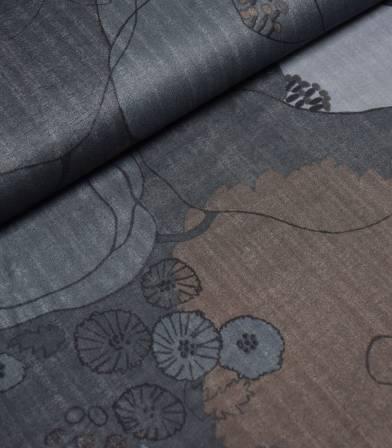 Tissu japonais Nani Iro - Waltz on black