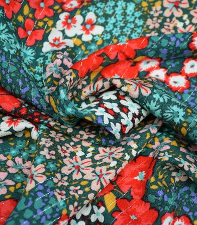 Tissu viscose Flower Power - Green