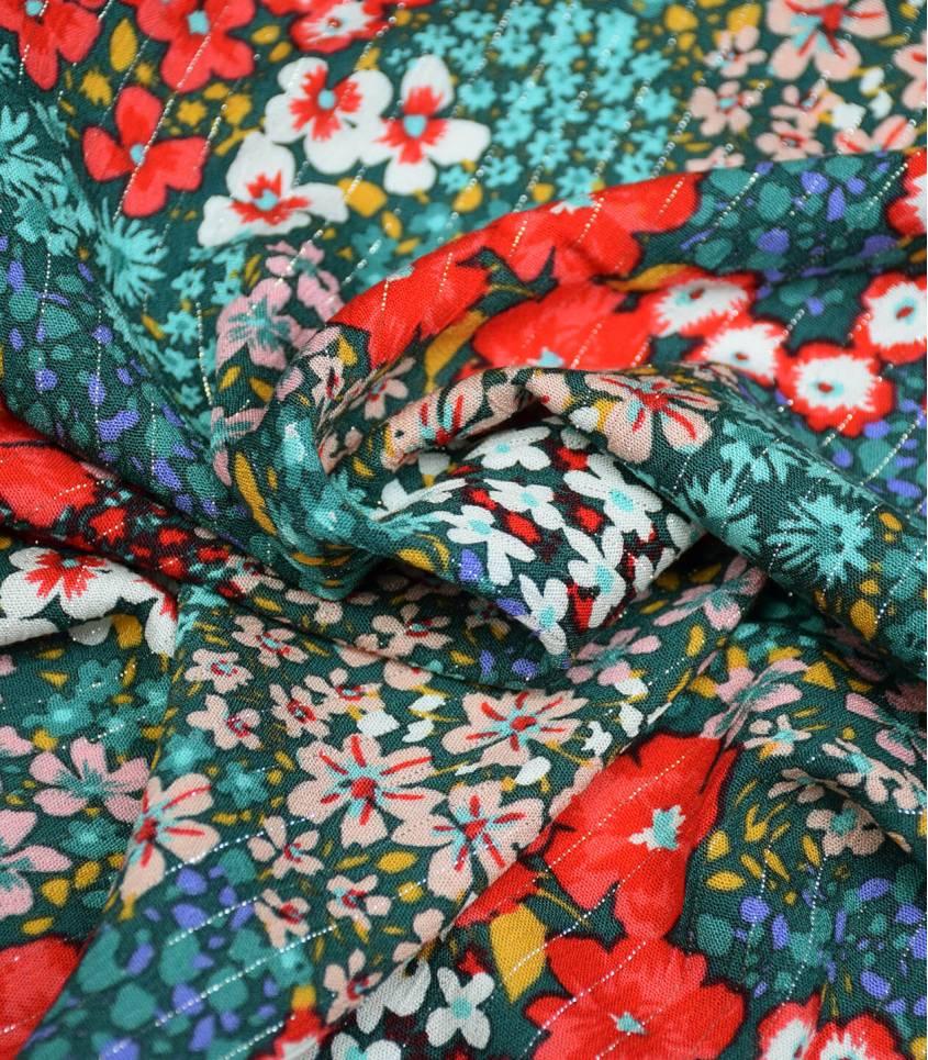 Tissu viscose Flower Power - Green