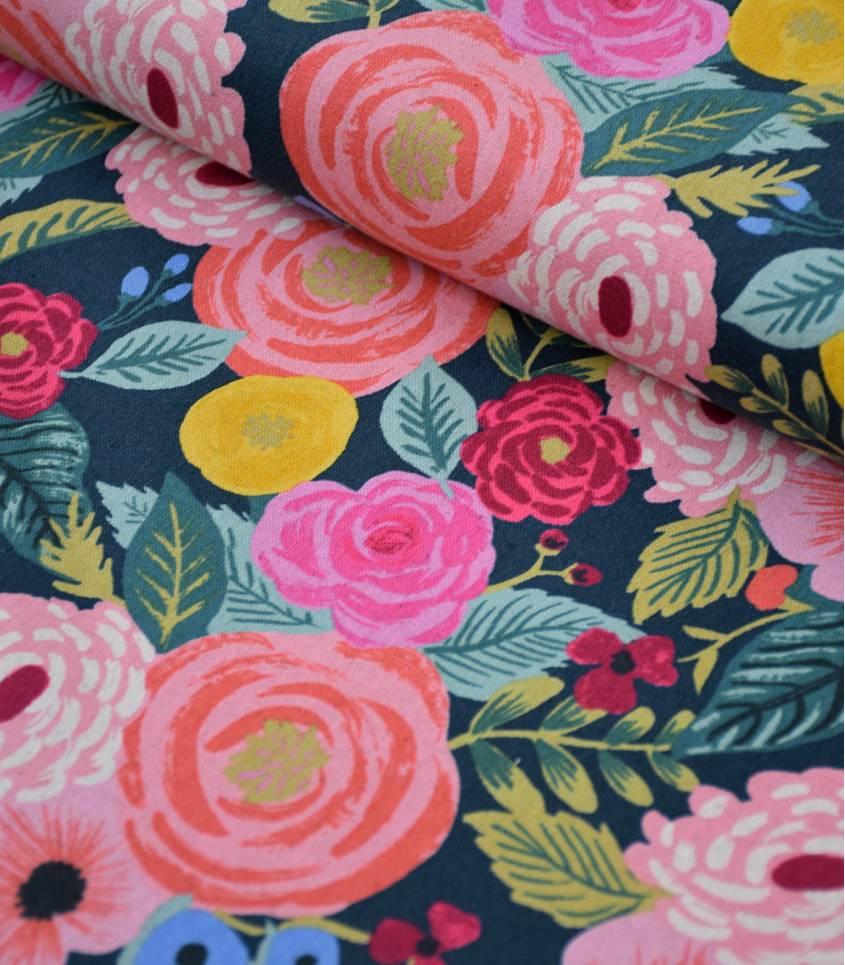 Tissu Canvas Juliet Rose - green