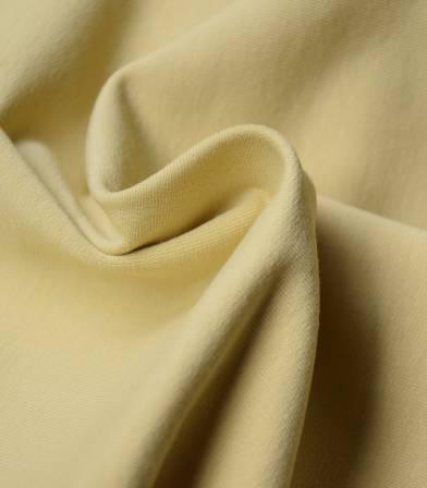 Tissu bio French terry - Dusty yellow