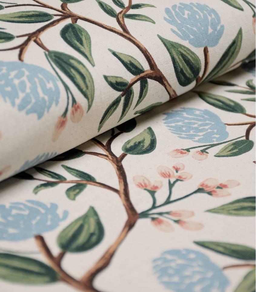 Tissu Canvas Peonies - Cream