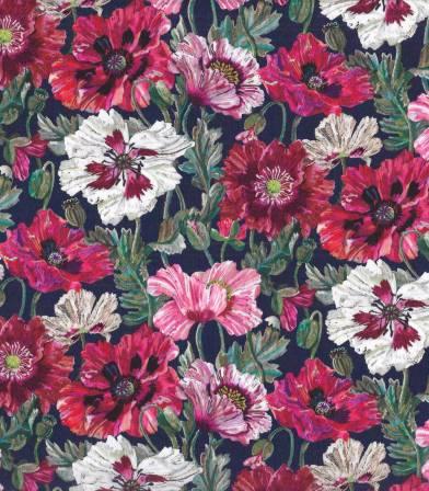 Tissu Liberty Poppy Amélie - rose