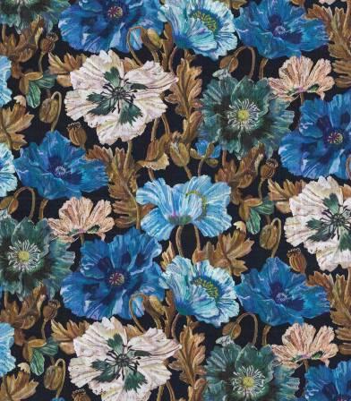 Tissu Liberty Poppy Amélie - bleu