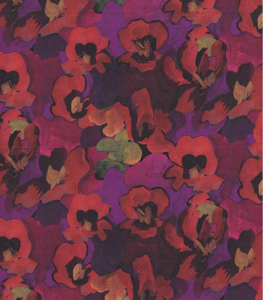 Tissu Liberty Jemma rose - sanguine