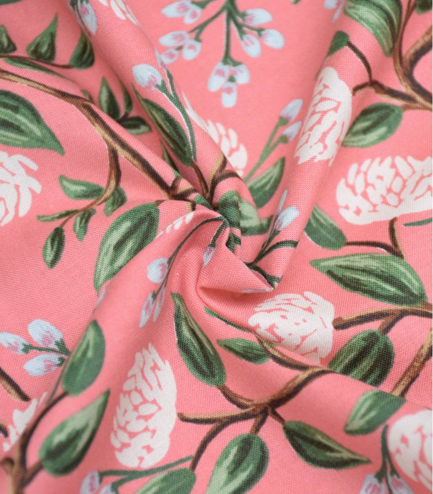 Tissu Peonies - Pink