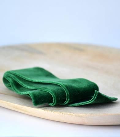 Ceinture élastique Velours - Vert 36mm