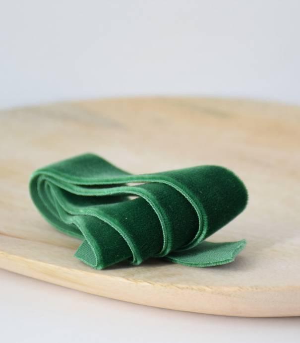 Ceinture élastique Velours -  Vert 22mm
