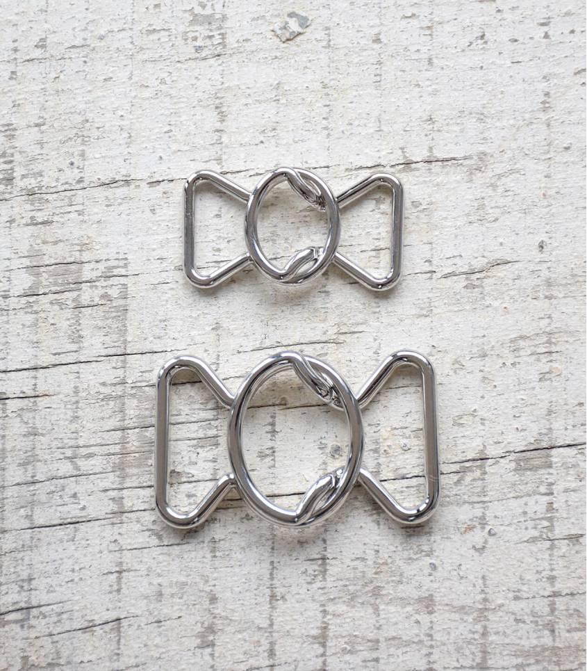 Boucle ceinture Noeud - Argenté 30mm