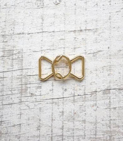 Boucle ceinture Noeud - Doré 20mm