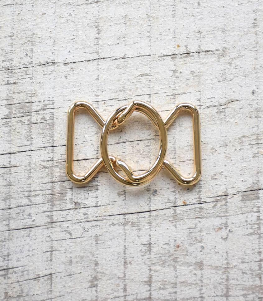 Boucle ceinture Noeud - Doré 30mm