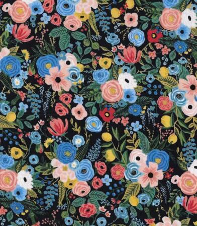 Tissu Petite Garden Party - Navy