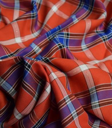 Tissu viscose Carriot lurex - rouge