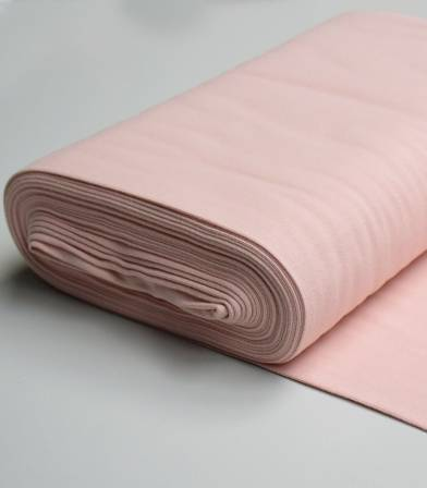 Bord-côtes fin - Dusty Pink