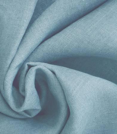 Tissu lin lavé Bluestone