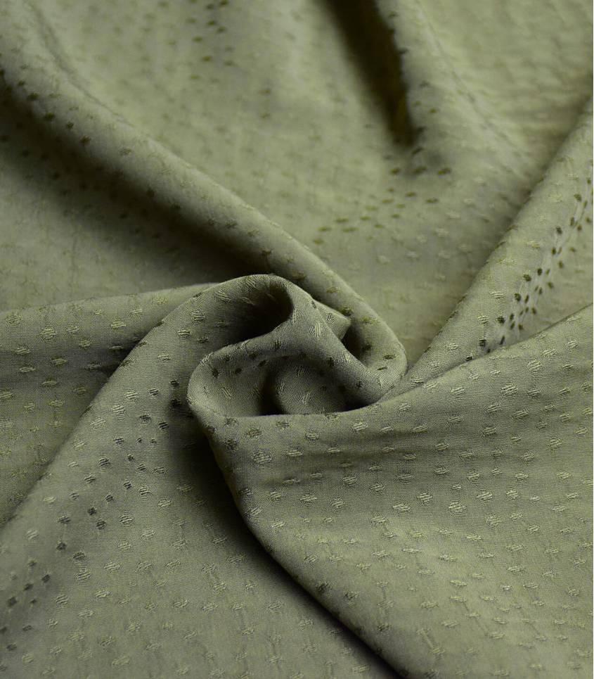 Tissu viscose Jaquard - Rice bronze