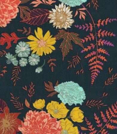 Tissu Floral Glow Twilit