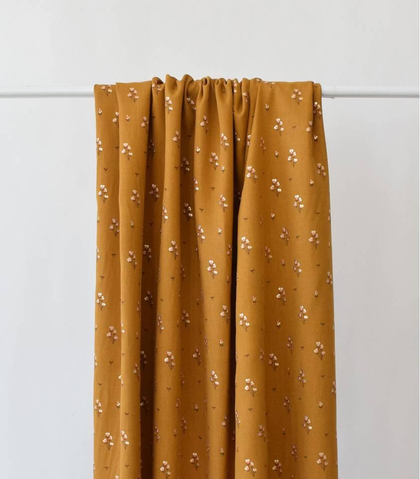 Tissu viscose Lalique - Mustard