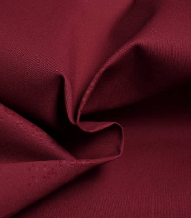 Tissu gabardine fine stretch - Bordeaux