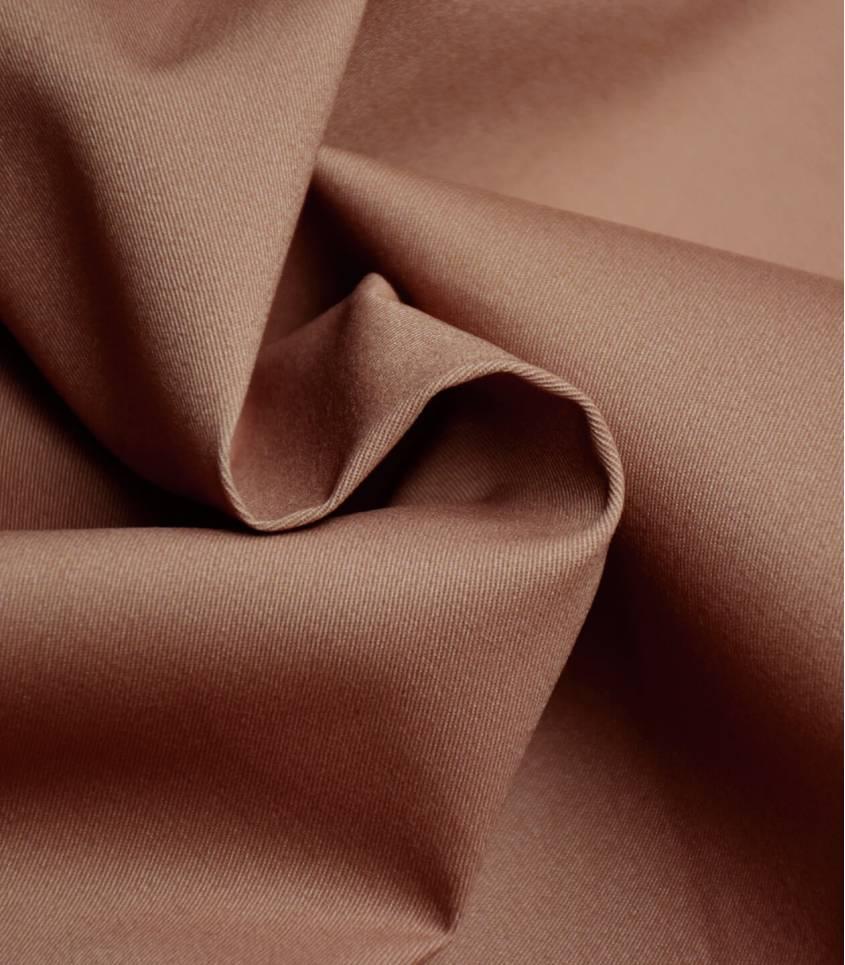 Tissu gabardine fine stretch - Chataîgne
