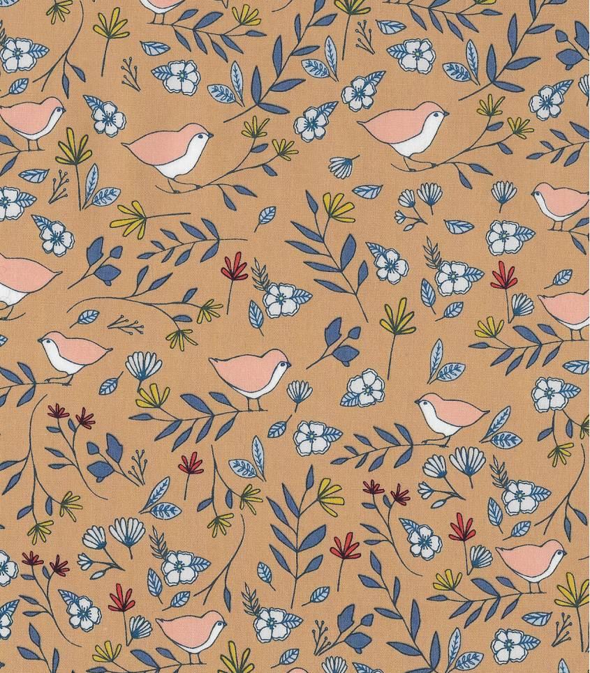 Tissu Love birds Amber