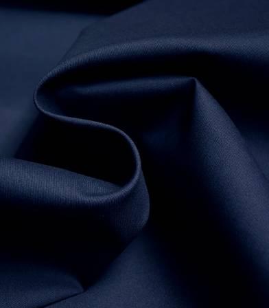 Tissu gabardine fine stretch - Bleu marine