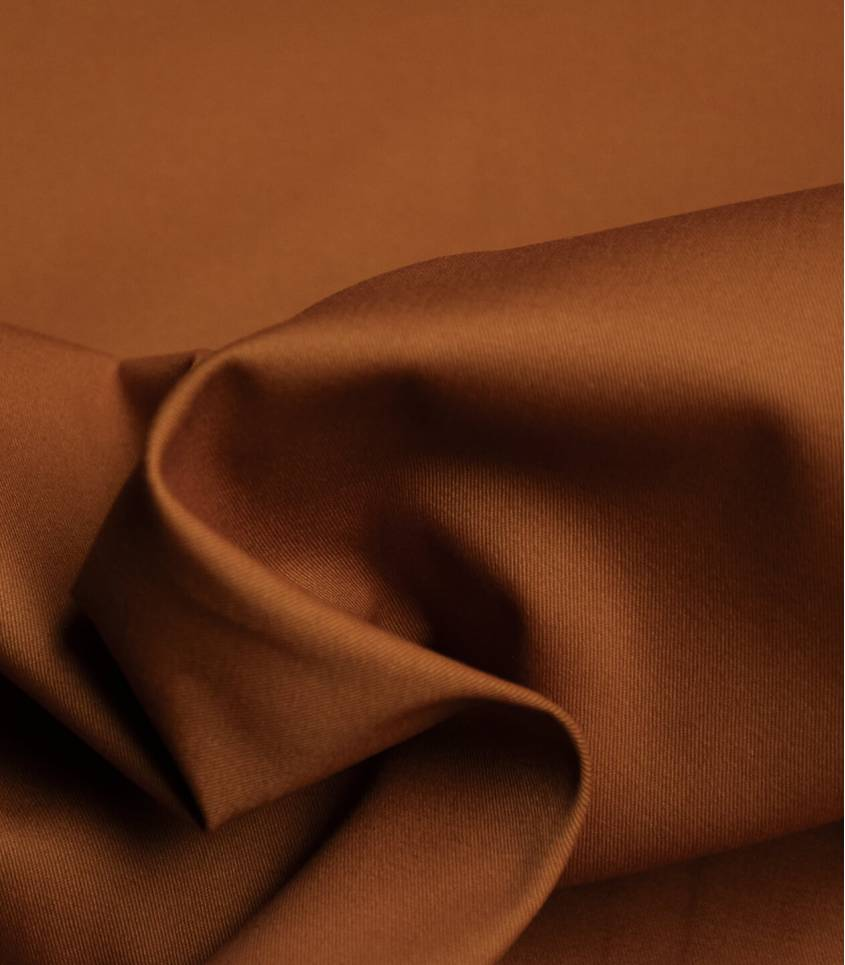 Tissu gabardine fine stretch - Rouille