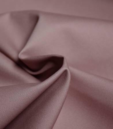 Tissu gabardine fine stretch - Rose poudré