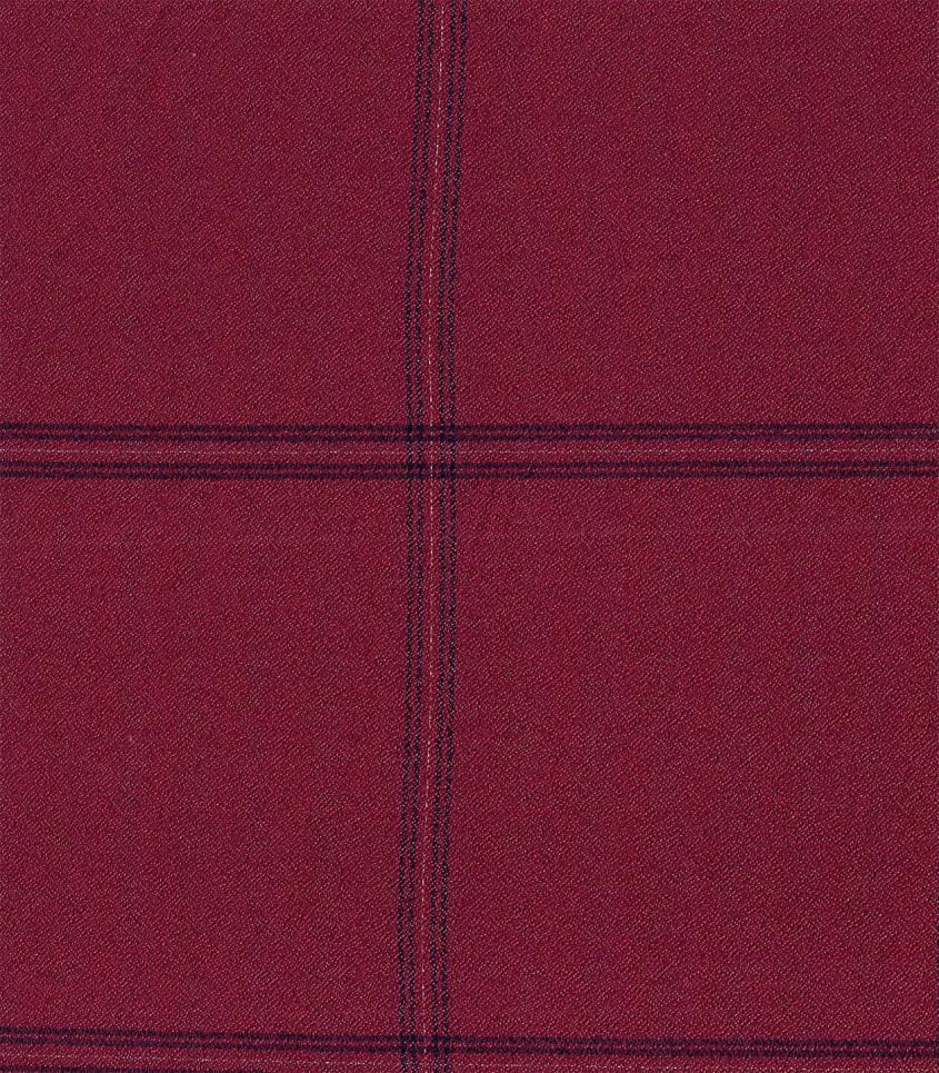 Tissu crêpe viscose carreaux Bordeaux