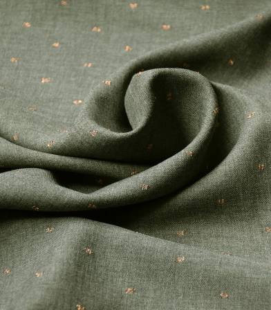 Tissu twill viscose - Metalic Dobby - kaki