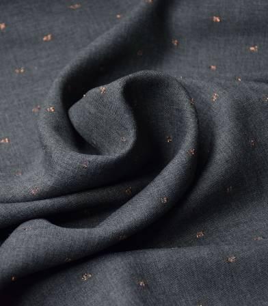 Tissu twill viscose - Metalic Dobby - Grey