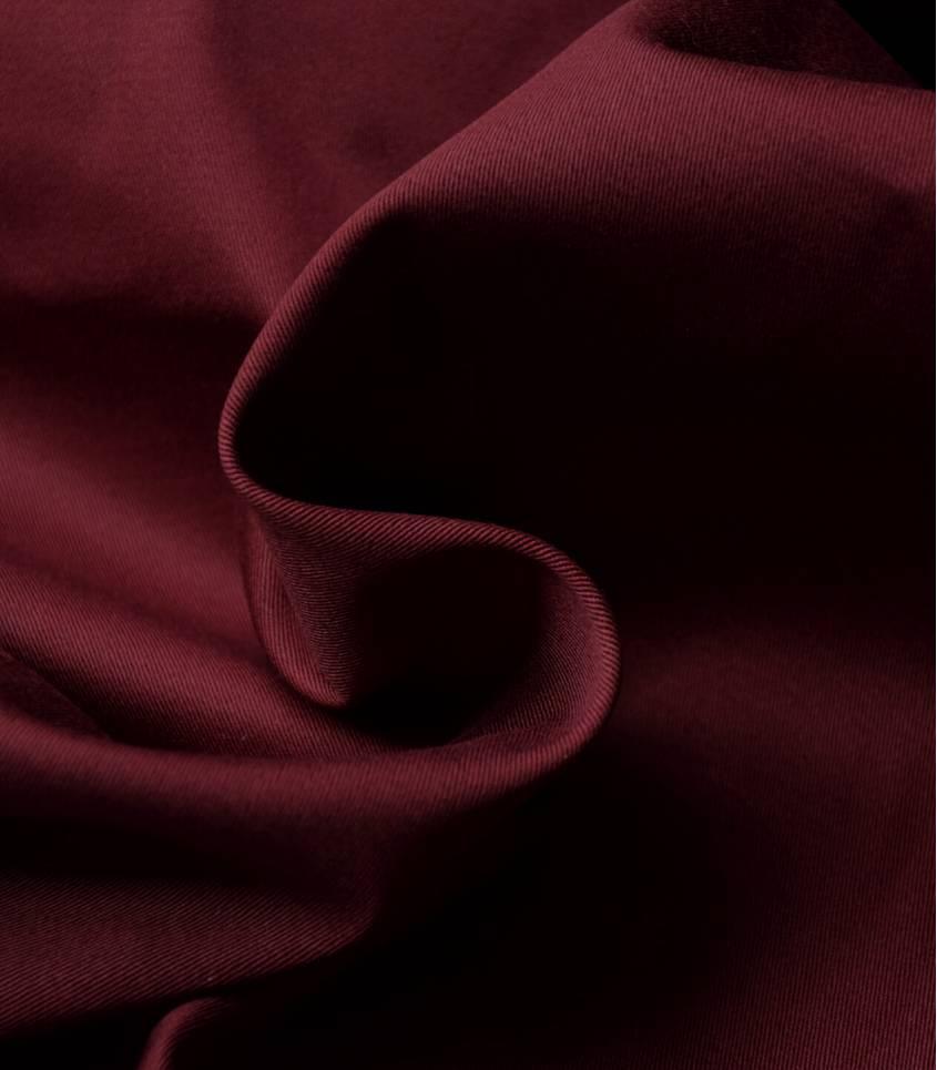 Tissu gabardine stretch - Wine